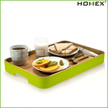 Nicely rectangle wood plate/wooden breakfast tray/HOMEX
