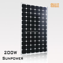 PWG Mono Solar Panel 200W Monocrystalline Silicon Cheap Price on Sale---HOT!!!