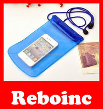 with button function mobile phone pvc waterproof bag for iphone 4,4s,5,5s