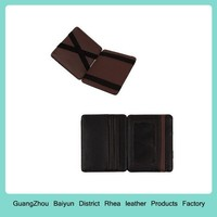 Mens Custom Thin Credit Card Holders Personalized Slim Unique Leather Magic Flip Wallet