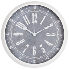 """12"""" antique country style plastic frame wall clock for bedroom"""