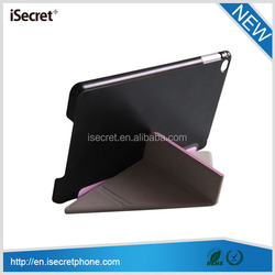 Good seller Y and 3 folder tablet leather case for ipad mini 4