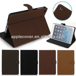 2015 Best Christmas Gift Retro Leather Flip Case for iPad Mini 1/2/3