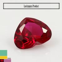 China gemstone supplier ! ! ! 4x4mm ruby red 5# heart shape corundum brazil semi precious stones/buyers of semi precious stones