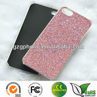 PC glitter case for iphone 5 with rubber coating