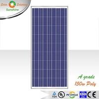 Sunshine 150w Poly A Grade Solar Panel Solar Module for 12V Solar Power System/Street Light/Battery Charging