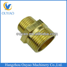 copper/brass hex nipple,brass male thread nipple, brass reducing connector/pipe fittings