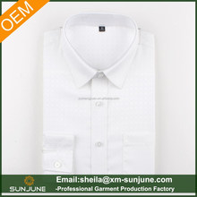 Simple design men's pure white quality formal dress shirt young