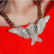 high fashion zircon eagle necklace young ladies eagle jewelry