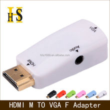 factory price hdmi to vga adapter with audio for hdtv project etc high quality hdmi male to vga female adaptor hdmi2vga adapter