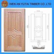 Hdf puerta de piel para puertas de madera para enchapado interna puertas