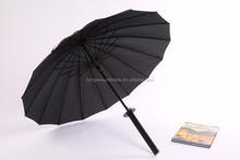 Honesen oem and odm real katana sword golf umbrella