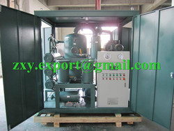 9000 Liters/Hour Transformer Oil Treatment Plant, ZYD-150 Insulating Oil Filtration Plant
