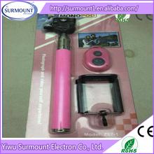 retailing packing 3 in 1 monopod+clip+bluetooth shutter selfie stick z07-1 remote shutter