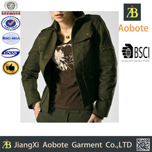 2015 Fashionable Quilted Army Women Coat Wholesale