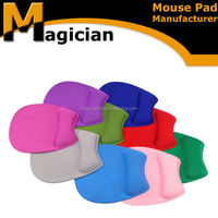 TOP product silicone wrist rest round mouse pad