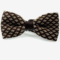 2014 latest knitted customized fabric bow tie