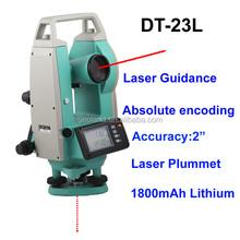 30x dt-23l laser digitale teodolite funzionamento facile con verso l'alto e verso il basso punto laser strumenti topografici