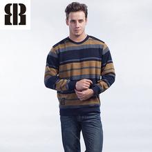 Bemme manga personalizada suéter largo del arbolado de la raya