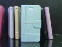 2015 Hot Sell New Product Ice Crystal Series Mobile phone Leather Case For iphone I4 I5