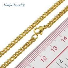 316L stainless steel plated gold chain necklace designs