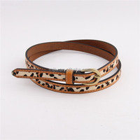 Most Popular Panther Print Thin Leather Waistband Fancy Lady Belt