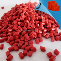Red color masterbatch and plastic masterbatch for plastic road barrier