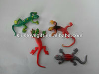 2013 promotional plastic sticky lizard soft toy/novelty toy/kids sticky toy