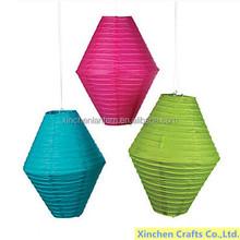 novelty three-dimensional rhombus colorful paper lantern