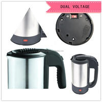 2014 new product popular double voltage travel kettle,dual voltage stainless steel electric kettle