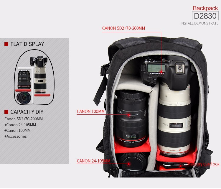 Горячая оптовая EIRMAI мешок скрытая камера! Новый стильный Шаблон Путешествия Водонепроницаемая Видеокамера Фотография Цифровая Фотокамера dslr Рюкзак
