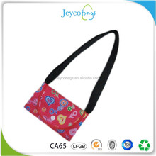 JEYCO BAGS Customized Long handle polyester foldable tote shopping bag with full version printing