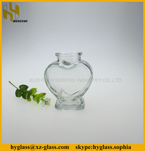 Transparent heart bottle glass gift with wooden cork manufacturer