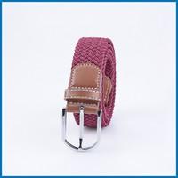 Bordeaux red Woven Elastic Stretch Belts RD-D03