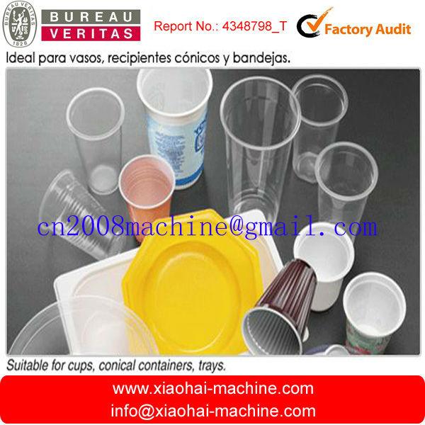 Máquina para hacer vasos de plástico