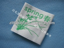 custom woven silk Sewing labels for Bag - Adult Sizes: XS, S, M, L, XL