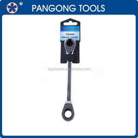 Universal adjustable Combination Double Ratchet Offset Ring wrench Spanner