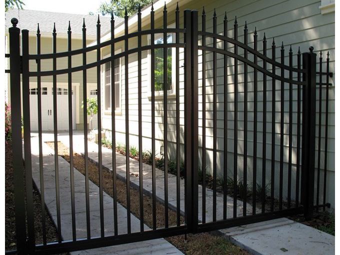 Garden arch wrought iron gate and fence luxury
