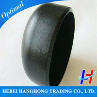 Black steel 12 inch steel pipe cap dimensions