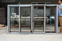 upvc COMMERCIAL sliding window with mosquito net and grids