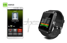 Multi function Android and Ios smart watches with heart rate 3 colors bluetooth GPS