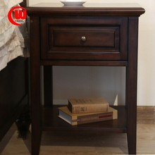 simple American country side cabinet American lockers imported black cherry green water paint bedroom furniture nightstand