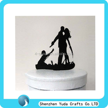 chinese made black funny Halloween Wedding Cake Toppers cake wholesale