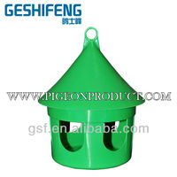 Racing pigeon Small multi-purpose feeder Green color racing pigeon drinking plastic system bird food utensil