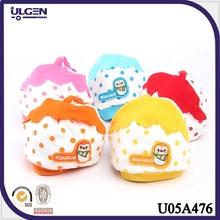 2014 nuevo modelo algodón con puntos fresas gorros para bebé recién nacido