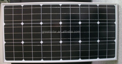 photovoltaic system transparent solar panel 130W mono solar panels
