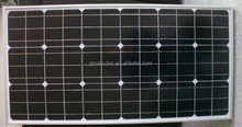 photovoltaic system transparent solar panel 130W mono solar panels