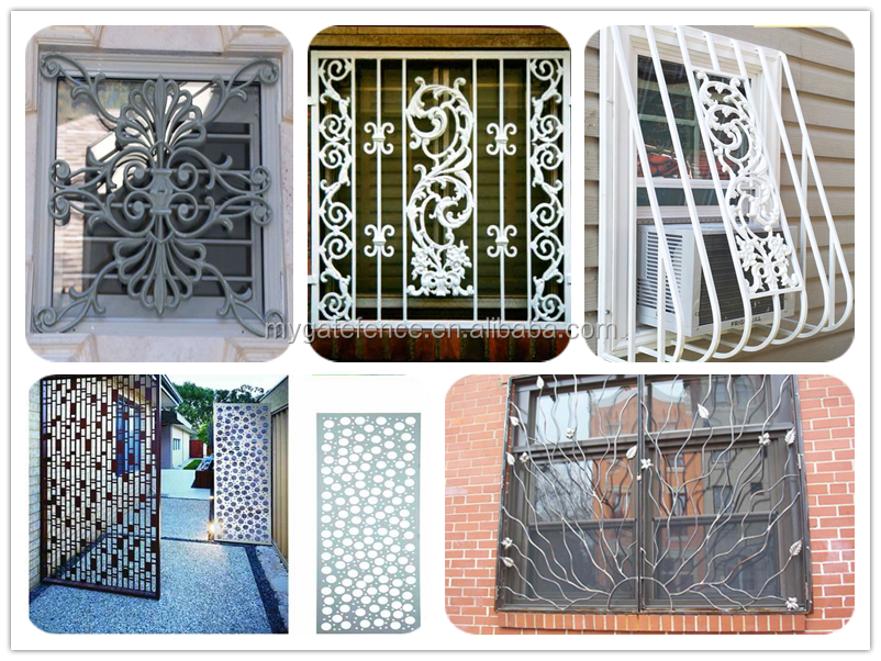 Simple iron window grills steel window grill design new for Iron window design house