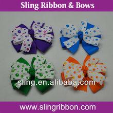 Colorful Print Ribbon Baby Goody Hair Clip