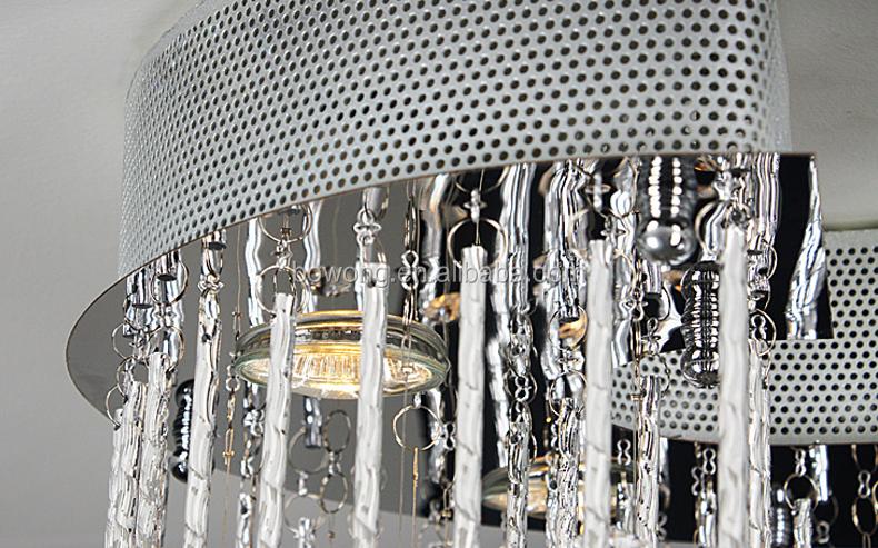 2015 tessuto funky led luci lampadari, elegante foyer lampadario ...